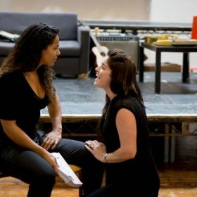 Shanay Holmes & Lucie Jones in Rent rehearsals. © Matt Crockett