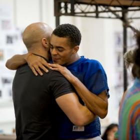 Ryan O'Gorman & Layton Williams in Rent rehearsals. © Matt Crockett
