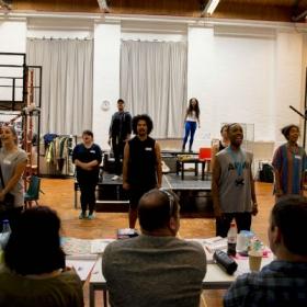 The cast in Rent rehearsals. © Matt Crockett