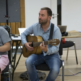 Tom Parkinson in Pacifist rehearsals. © Sarah Ainslie
