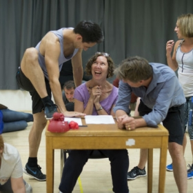 The cast of A Pacifist's Guide... in rehearsals. © Sarah Ainslie