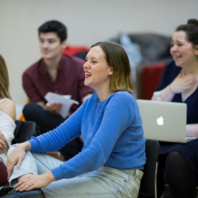 Bryony Kimmings in Pacifist rehearsals. © Sarah Ainslie