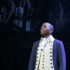On Broadway: Leslie Odom Jr as Aaron Burr in Hamilton. © Joan Marcus
