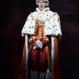 On Broadway: Jonathan Groff as King George in Hamilton. © Joan Marcus