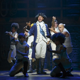 On Broadway: Christopher Jackson as George Washington in Hamilton. © Joan Marcus