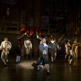 On Broadway: Leslie Odom Jr and the cast in Hamilton. © Joan Marcus