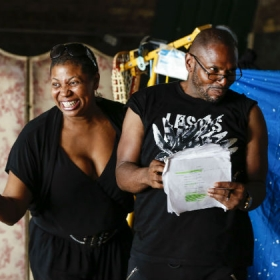 Brenda Edwards & Anton Stephans in Moby Dick! rehearsals. © Pamela Raith