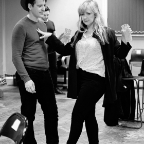Gabriel Vick & Alice Young in Promises, Promises rehearsals. © Claire Billyard