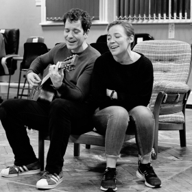 Gabriel Vick & Daisy Maywood in Promises, Promises rehearsals. © Claire Billyard