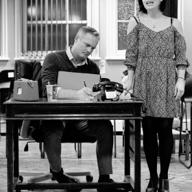 Paul Robinson & Natalie Moore-Williams in Promises, Promises rehearsals. © Claire Billyard