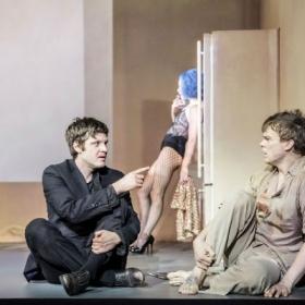 Michael Esper, Amy Lennox & Michael C Hall in Lazarus. c Johan Persson.