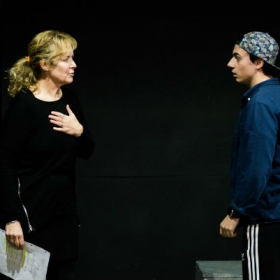 Helen Hobson & Edd Campbell Bird in Muted rehearsals. © Savannah Photographic