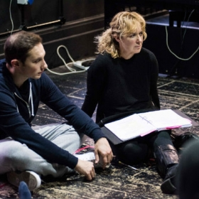 Jos Slovick & Helen Hobson in Muted rehearsals. © Savannah Photographic