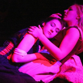 Colette Eaton and Naomi Todd in Her Aching Heart. © Roy Tan
