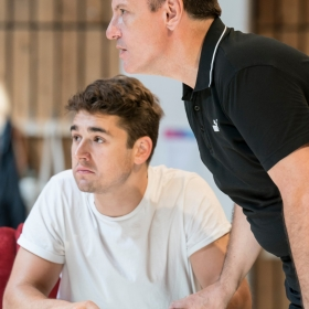 Fred Haig with Bill Deamer in rehearsal for Follies. © Johan Persson