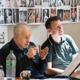 Dominic Cooke (Director) & Bill Deamer (Choreographer) in rehearsal for Follies. © Johan Persson