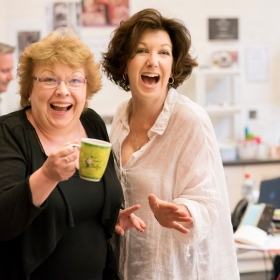 Di Botcher & Geraldine Fitzgerald in rehearsal for Follies. © Johan Persson