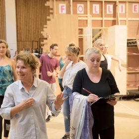 Imelda Staunton & Liz Ewing in rehearsal for Follies. © Johan Persson