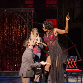 David Hunter, Elena Skye and Matt Henry in Kinky Boots, Sep 2016. © Helen Maybanks