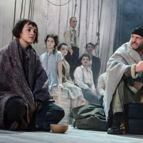 Audrey Brisson, Stuart Goodwin & cast in La Strada. © Robert Day