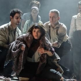 Audrey Brisson & cast in La Strada. © Robert Day