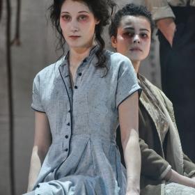 Sofie Lyback & Tatiana Santini in La Strada. © Robert Day