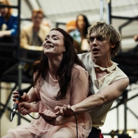 Christina Bennington & Andrew Polec in Bat Out of Hell rehearsals. © Specular