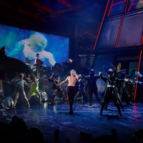 Andrew Polec & the cast of Bat Out of Hell. © Specular