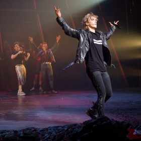 Andrew Polec at Curtain Call of Bat Out Of Hell credit Piers Allardyce