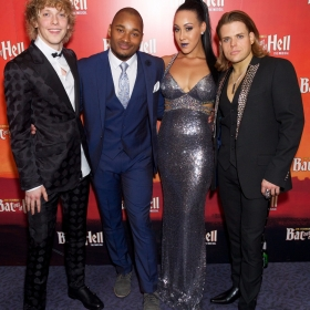 Andrew Polec, Dom Hartley-Harris, Danielle Steers & Giovanni Spano at Bat Out Of Hell Opening Night Party credit Piers Allardyce
