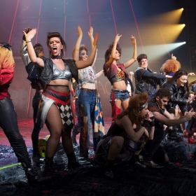 Bat Out Of Hell Cast at Curtain Call credit Piers Allardyce (2)