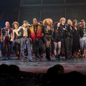 Bat Out Of Hell Cast at Curtain Call credit Piers Allardyce (4)