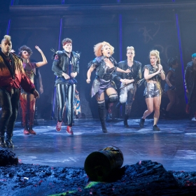Bat Out Of Hell Cast at Curtain Call credit Piers Allardyce