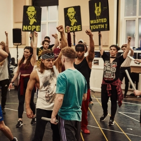 Bat Out of Hell rehearsals for West End, March 2018