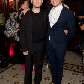 Olly Dobson & Aran MacRae at Bat Out Of Hell Opening Night Party credit Piers Allardyce