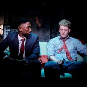 Jordan Shaw & Chris Jenkins in tick, tick... BOOM! © Claire Bilyard