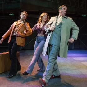John Addison, Joanna Woodward & Jonathan Tweedie in The Life. © Conrad Blakemore