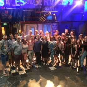 Stephen Schwartz (front centre) saw this Working production on 26 June 2017.