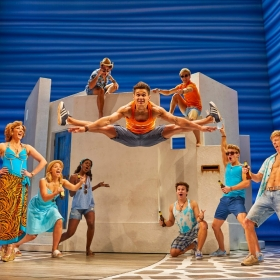 Cast of Mamma Mia, 2018. © Brinkhoff & Migenburg
