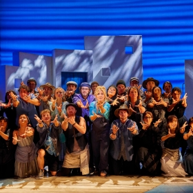 Cast of Mamma Mia, June 2019. © Brinkhoff & Migenburg