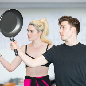 Lizzy Connolly & Drew McOnie in On the Town rehearsals. © Johan Persson