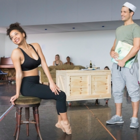 Siena Kelly & Danny Mac in On the Town rehearsals. © Johan Persson