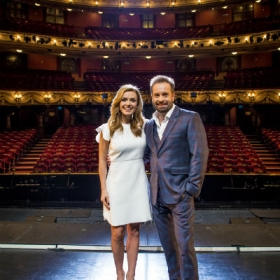 Katherine Jenkins and Alfie Boe at the London Coliseum in Dec 2016. © Matt Crockett