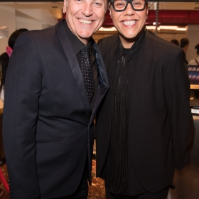 Brian Conley & Gok Wan on opening night of Carousel. © Craig Sugden