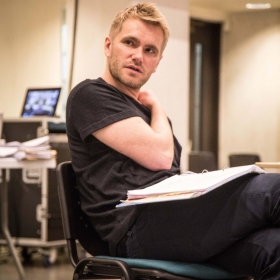Adam Penford in Rehearsals for Committee.