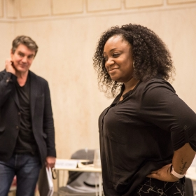 Alexander Hanson & Sandra Marvin in Rehearsals for Committee.
