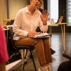 Liz Robertson in Rehearsals for Committee.