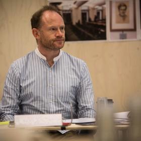 Robert Hands in Rehearsals for Committee.