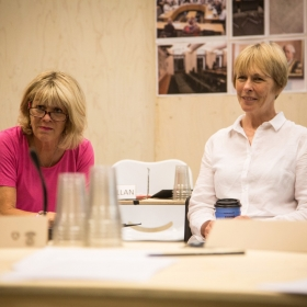 Rosemary Ashe & Liz Robertson in Rehearsals for Committee.