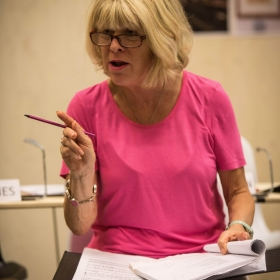 Rosemary Ashe in Rehearsals for Committee.